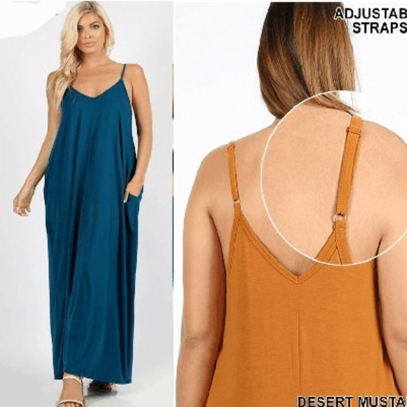 e79416321f0 NEW TEAL PLUS SIZE MAXI OVERSIZED DRESS POCKETS